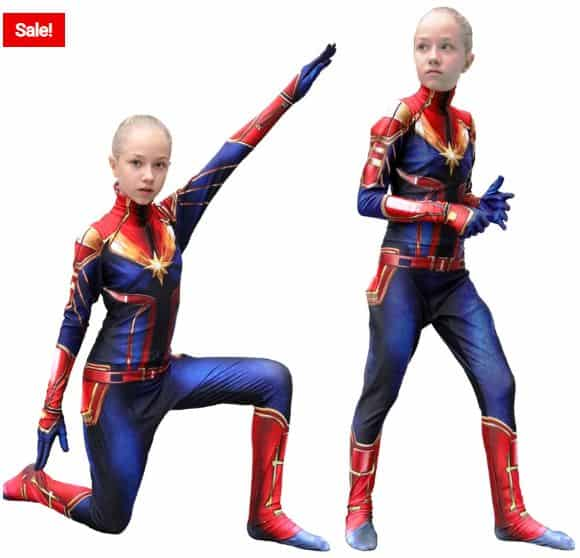 Your Little Girl Will Love This Captain Marvel Costume Uberheroes Net Officially licensed disney and marvel studios, children's captain marvel costume; uberheroes marvel character and superpower