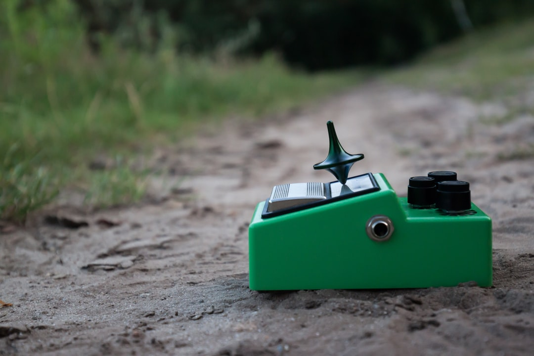 A small green toy
